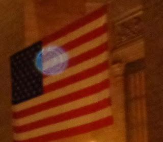 orb on flag