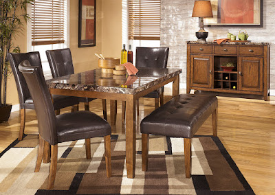 full dining set with bench