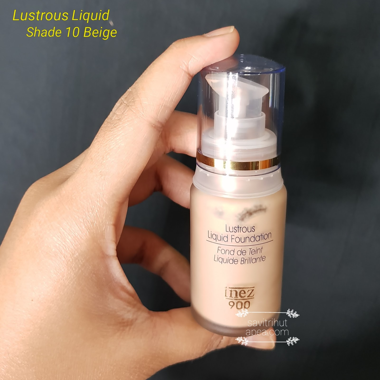 Sponsored Natural Makeup Look Menggunakan Brand Inez Cosmetics Lustrous Liquit Foundation Tahap Ketiga Aku Liquid