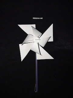 Cara membuat Kincir Angin Dari Kertas karton dengan baik dan benar
