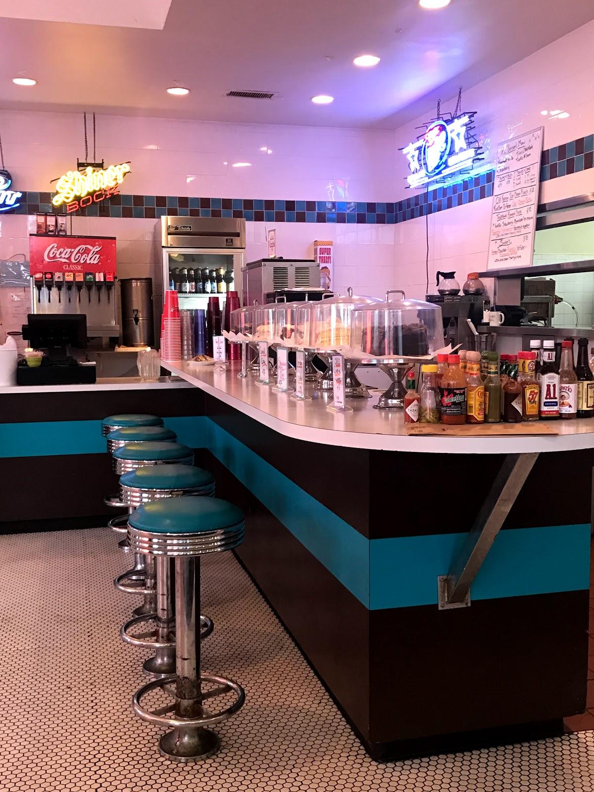 Image: Inside Honky's burger bar in Bishop Arts District