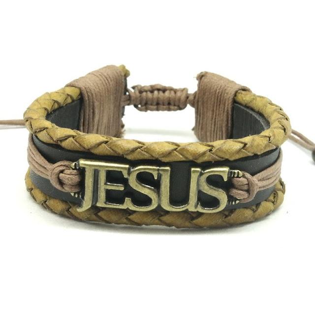 Pulseira De Couro Jesus