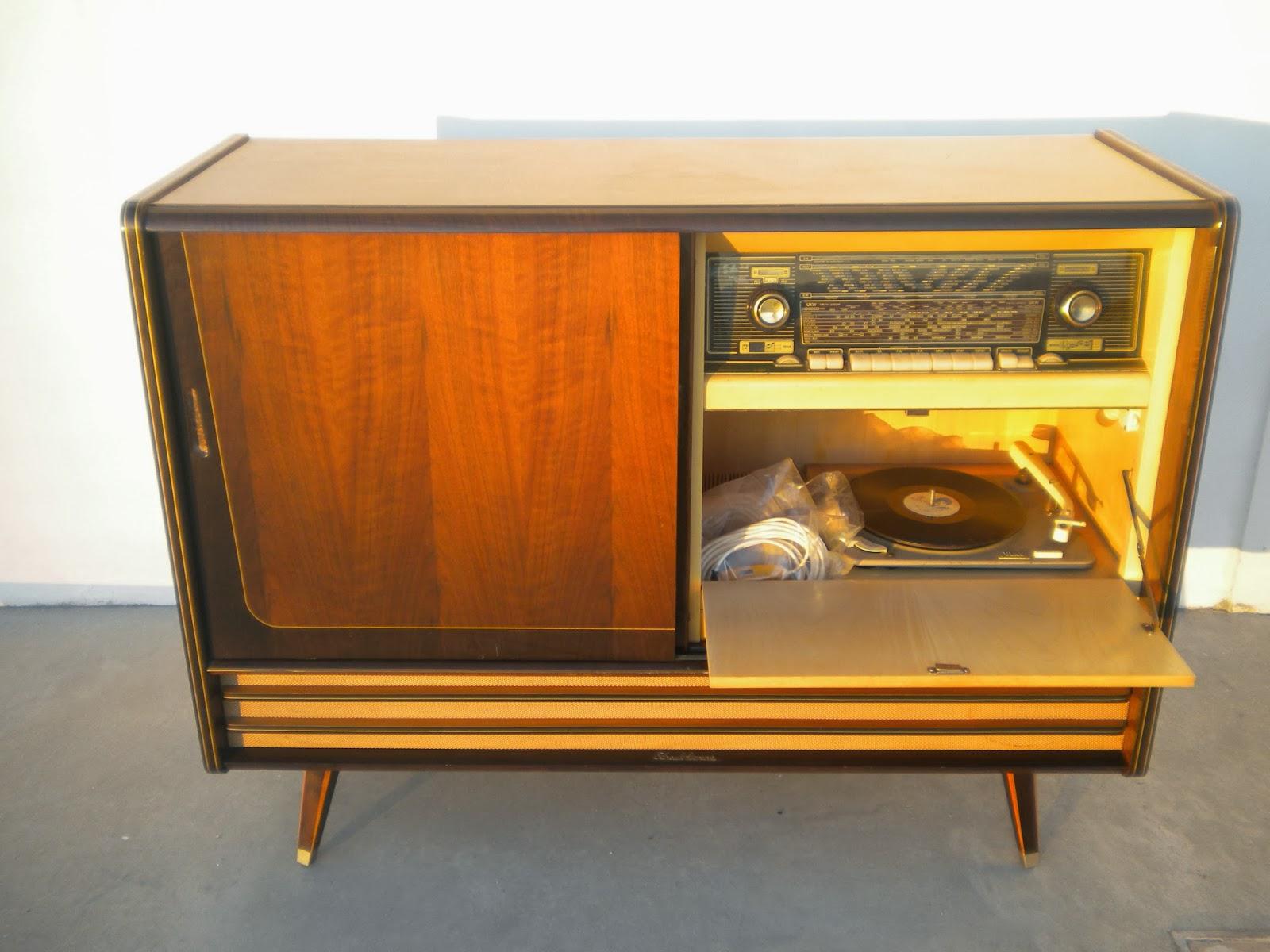 Walmart Aparador De Sala ~ é DE + Vintage Movel aparador vintage radio tv gira discos Schaublournz
