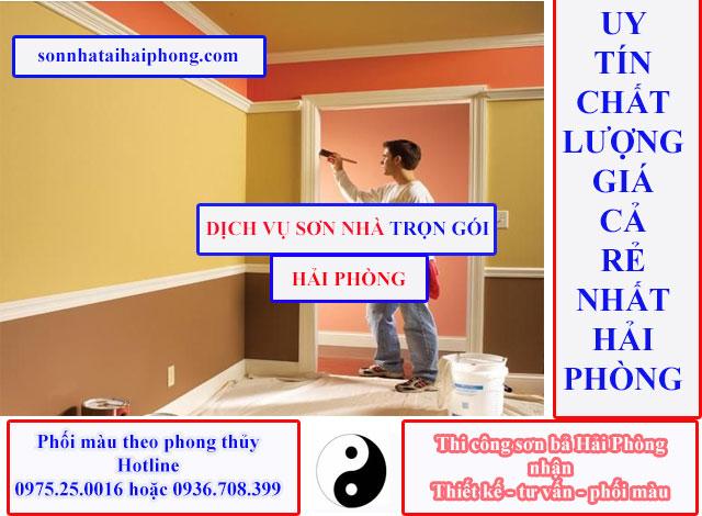 Đội thơ sơn nhà trọn gói, sơn lại nhà, sơn chống thấm,...nhận tất cả các công trình sơn bả tại Hải Phòng như: nhà ở, văn phòng, nhà xưởng,...