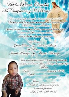 Tarjeta de Invitación de Jesús para Cumpleaños, Bautizo, Bautismo, Primera Comunión Azul Cielo