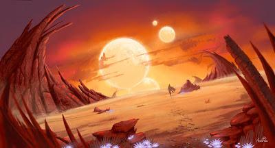 Sunset Alien Planet de Jeanne 24.
