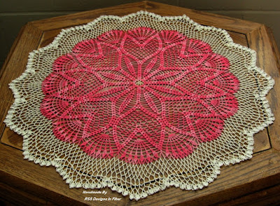 Pink Tulip Ring Table Topper - 22 Inch - By RSS Designs In Fiber