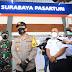 Kapolda Jatim Dan Pangdam V Brawijaya, Cek Kepatuhan Prokes Di Stasiun Kereta Api Pasar Turi