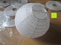 """Erfahrungsbericht: LIHAO 8"""" weiße runde Papier Laterne Lampion Lampenschirm Hochtzeit Party Dekoration Ballform - (10er Packung)"""