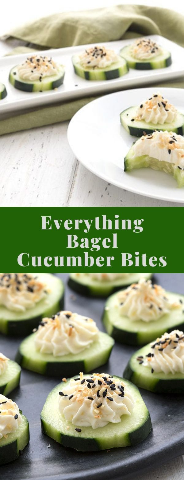 Everything Bagel Cucumber Bites