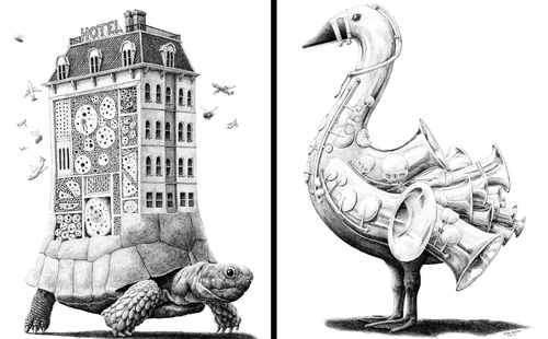 00-Redmer-Hoekstra-Surreal-Animal-Drawings-Pen-on-Paper-www-designstack-co