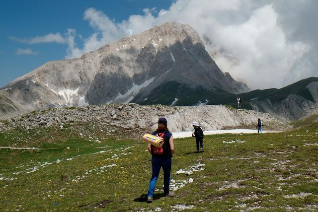 Fotografia di escursionisti sul Gran Sasso