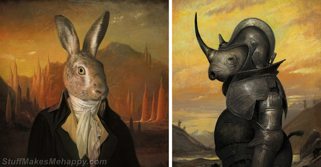 Fauna and flora re-dressed Painting Portraits by Bill Meyer
