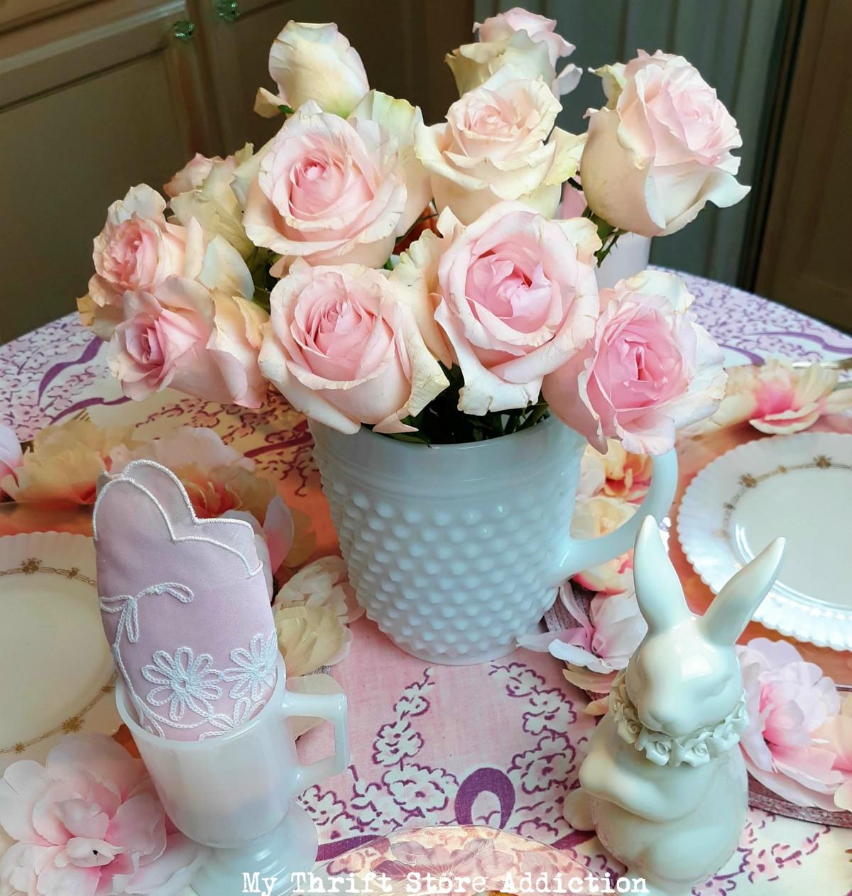 floral Easter decor