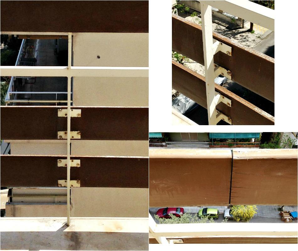 Ανακαίνιση μπαλκονιού, χαλασμένα ξύλινα κάγκελα