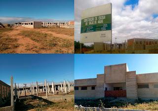Obras inacabadas, valor passa de 1,3 milhão de Reais;  se concluídas beneficiariam população de Picuí