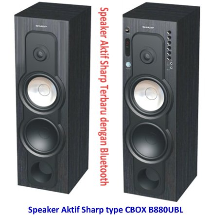 Speaker Aktif Sharp Terbaru Bluetooth