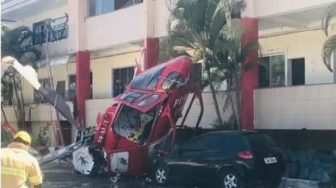 Helicóptero do Corpo de Bombeiros cai no Distrito Federal - Vídeo