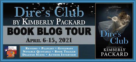 Dire's Club book blog tour promotion banner