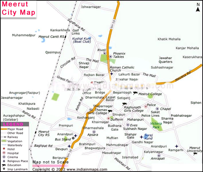 Meerut India Map.About Meerut City Meerut City Map India In Maps Citiestips Com