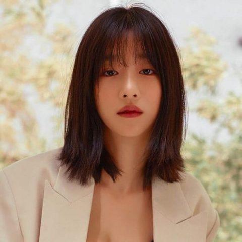 Kiểu tóc nữ đẹp ngang vai duỗi thẳng