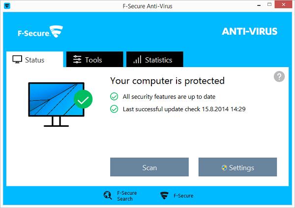 برامج مكافحة الفيروسات F-Secure Anti-Virus 2016