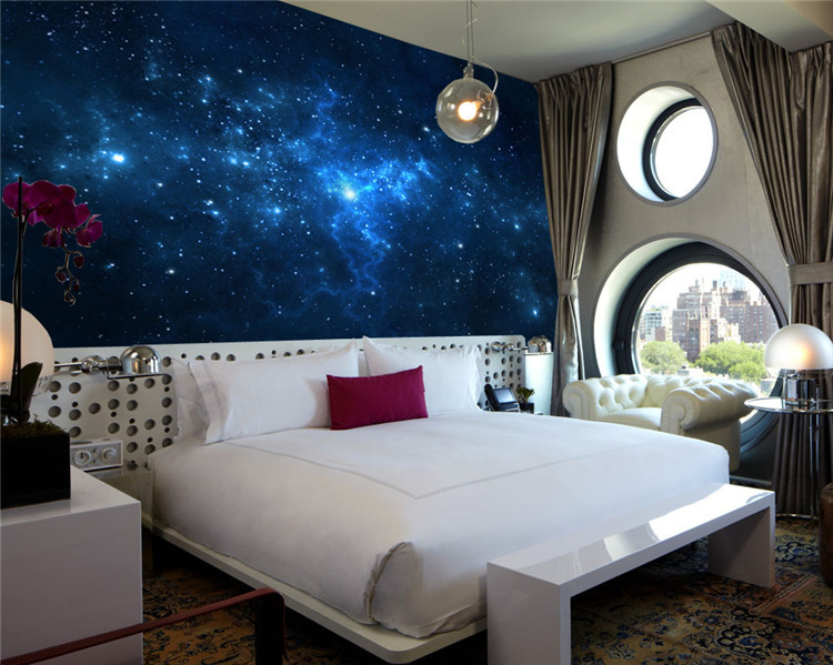 Decorate a galaxy bedroom for Mural art designs for bedroom