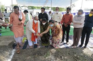 विधायक जैन ने 292.29 लाख रुपये की लागत से बनने वाले जिला नि:शक्त पुनर्वास केन्द्र का किया भूमिपूजन