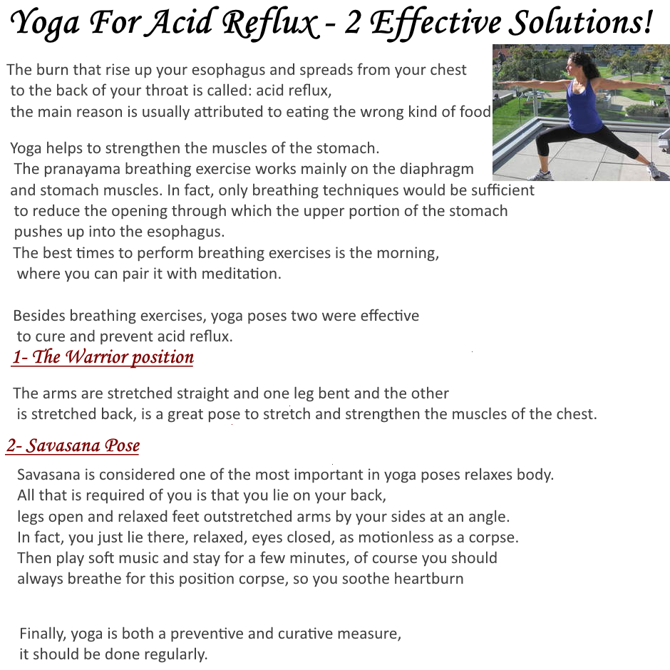 learn all about yoga: Yoga For Acid Reflux - Discover New