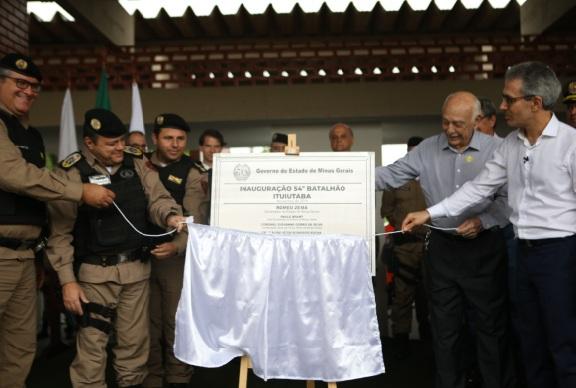 mg: Governador inaugura batalhão da Polícia Militar em Ituiutaba
