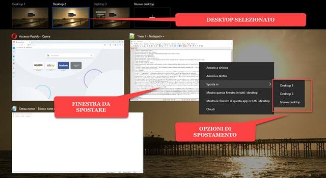 spostare finestre da desktop virtuale con il menu