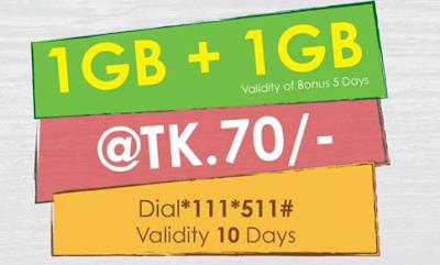 Teletalk internet offer ! Buy 1GB and Get 1GB internet data free