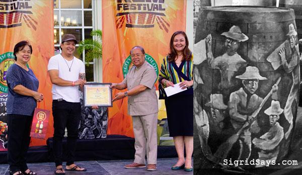 Tanduay Rum Festival barrel art painting winner - Bacolod festival - Bacolod blogger - John Orola - Em Ang