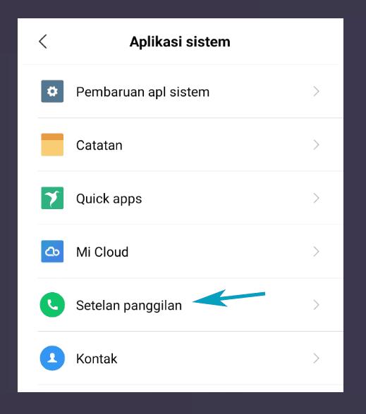 Aplikasi Pengaturan Panggilan