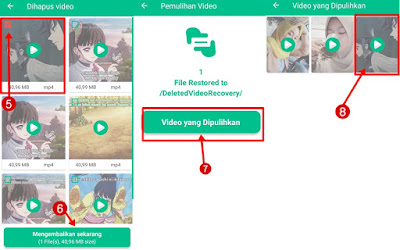 video terhapus di android