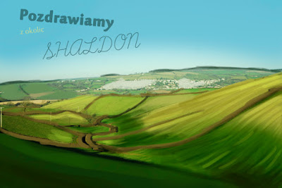 A postcard from a meadow and fields from sunny Shaldon in Devon