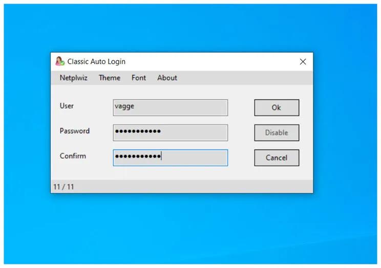 Classic Auto Login : Κάντε login αυτόματα στα windows
