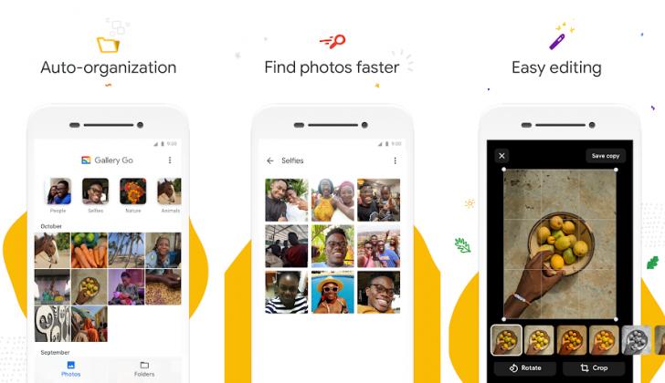 ملخص حول Google Gallery Go هو مدير صور Android خفيف وغير متصل بالإنترنت