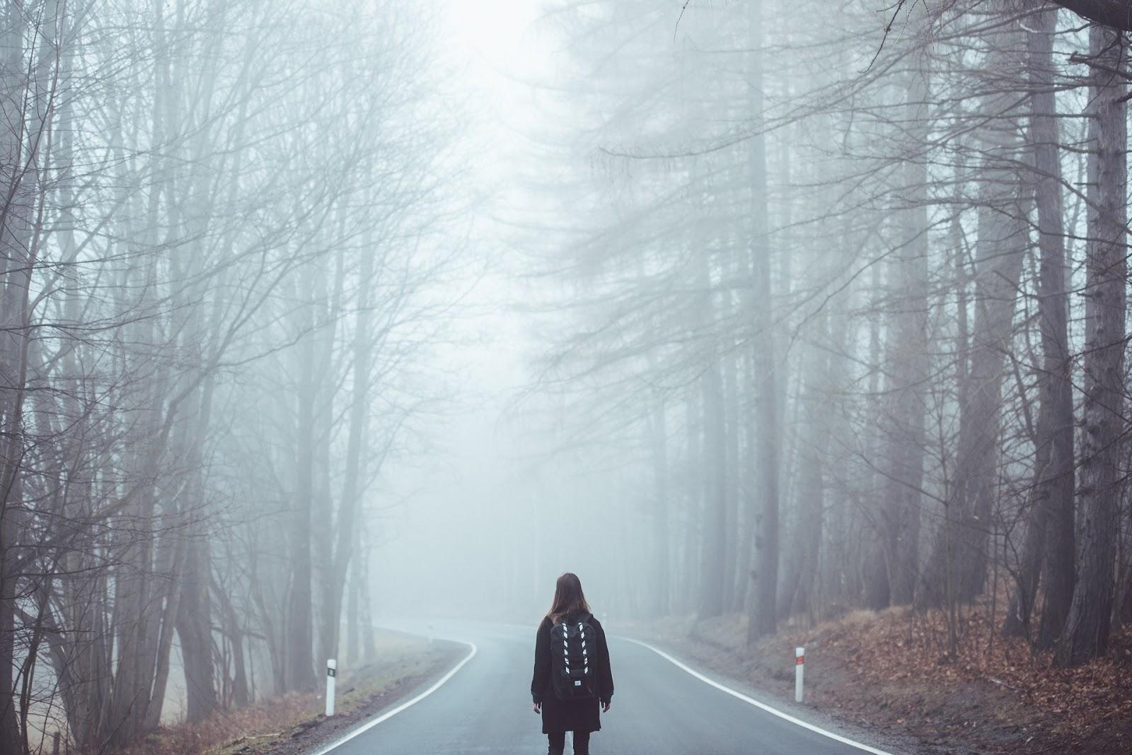 Source: https://pixabay.com/en/fog-mist-road-lost-girl-eerie-1208283/