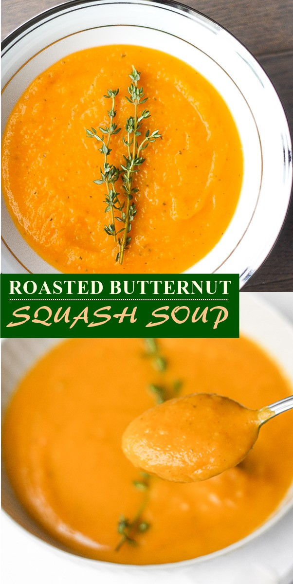 ROASTED BUTTERNUT SQUASH SOUP #souprecipes