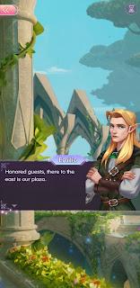 Emilio the elf shows Zoya around his kingdom