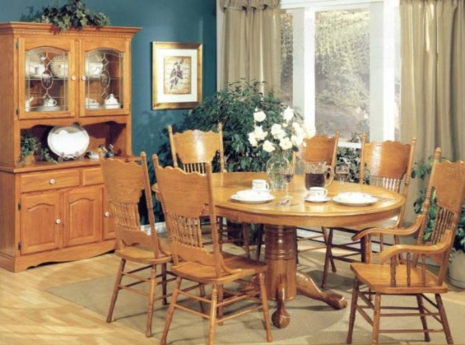 Oak dining room furniture furniture for Wooden dining room furniture