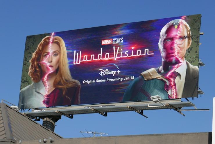 WandaVision series premiere billboard