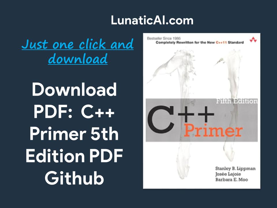 C++ Primer 5th Edition PDF Github