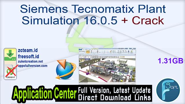 Siemens Tecnomatix Plant Simulation 16.0.5 + Crack_ ZcTeam.id