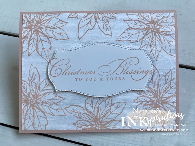 By Angie McKenzie for the Joy of Sets Blog Hop; Click READ or VISIT to go to my blog for details! Featuring SNEAK PEEKS of the Poinsettia Petals and Wrapped in Christmas stamp sets; #stampinup #handmadecards #naturesinkspirations #joyofsetsbloghop #christmascards  #poinsettiapetalsstampset #wrappedinchristmasstampset #tastefullabelsdies #subtle3dembossingfolder #fussycutting #cardtechniques #stampinupinks #makingotherssmileonecreationatatime