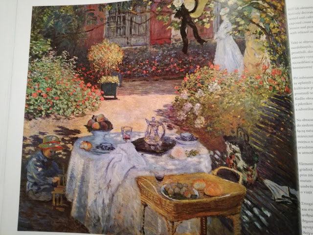 Claude Monet, The lunch: Decorative Panel