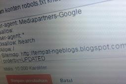 Cara Setting robot.txt di Blogspot Agar Seo Friendly