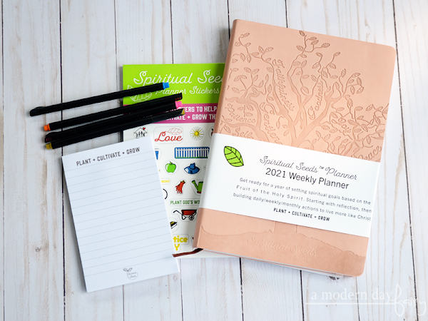 Prioritize God in 2021 with a Spiritual Seeds Planner {A Review, Coupon Code + Giveaway}