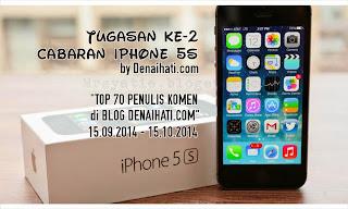 Tugasan ke-2 Cabaran iPhone 5s Anjuran Denaihati